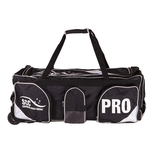 SCC Pro Wheelie Cricket Bag - Black