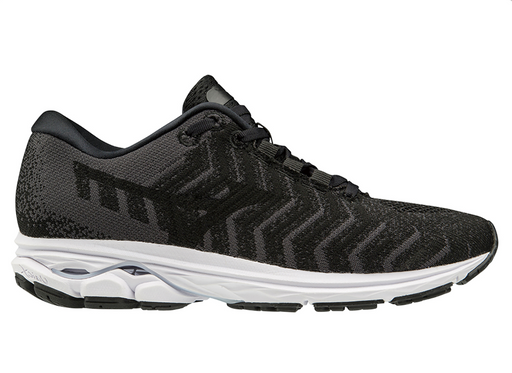 Mizuno Wave Rider Waveknit 3 Mens Running Shoe - Black