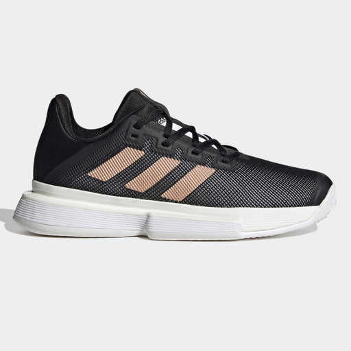 Adidas Solematch Bounce Womens Tennis Shoe - Core Black/Copper Metallic_FU8125
