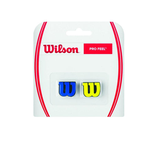 Wilson Twin Pack Pro Feel Racquet Dampeners - BlueYellow_WRZ537700