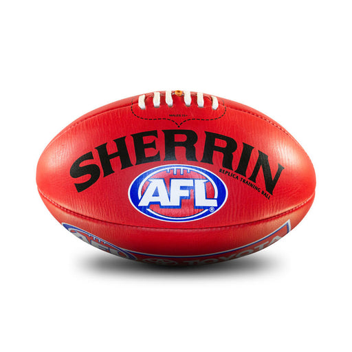Sherrin Leather Size 3 AFL Training Replica Ball - Red