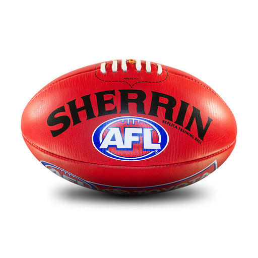 Sherrin Leather Size 4 AFL Training Replica Ball - Red