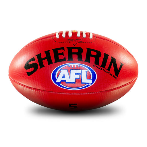 Sherrin Leather AFL Training Replica Size 5 AFL Ball -Red