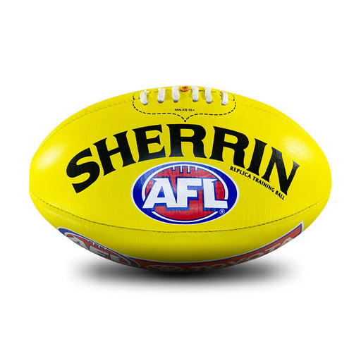 Sherrin Leather Size 4 AFL Training Replica Ball - Yellow