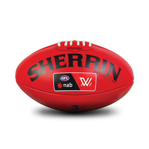Sherrin Leather Size 3 AFLW Training Replica Ball - Red