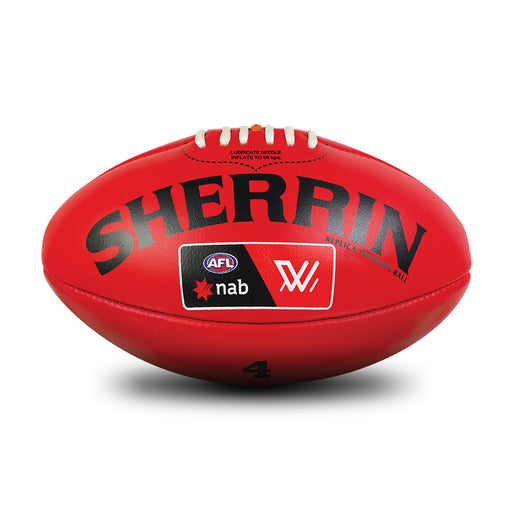 Sherrin Leather Size 4 AFLW Training Replica Ball-Red