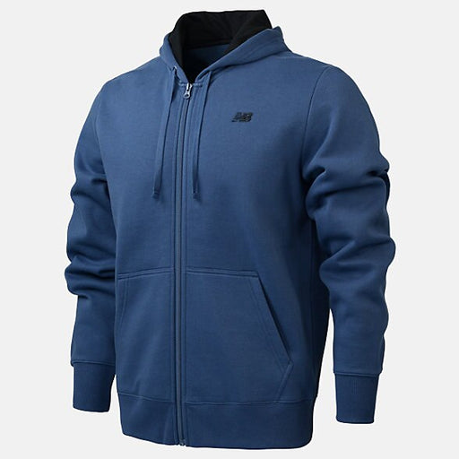 New Balance Mens Fleece Fz Hoodie - Blue_RMJ0131-SNB