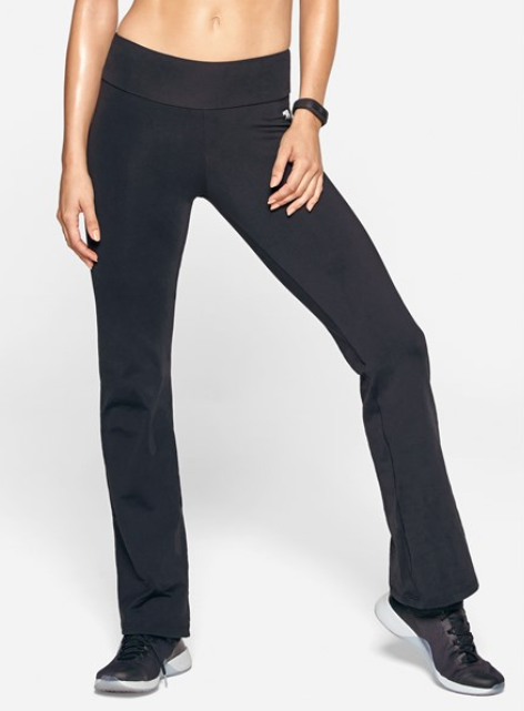 Running Bare High Rise Straight Leg Yoga Jazz Pant - Black_B15309A