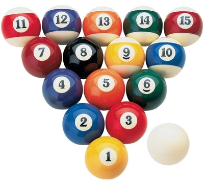 Josan 1 7/8in Kelly Pool Ball Set