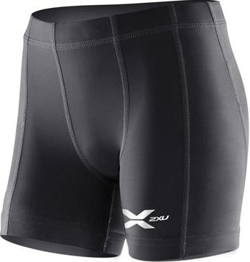 2XU Youth Compression 1/2 Shorts - Black/Black