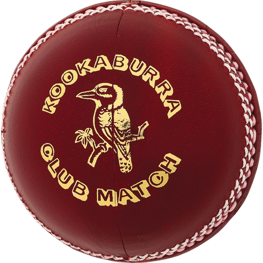 Kookaburra Club Match 142g Cricket Ball - Red