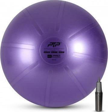 PTP 55cm Core Strength And Balance Ball With Pump - Pearl Violet