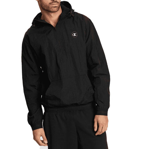 Champion Authentic 1/4 Zip Mens Jacket-Black_AX9MN BLK