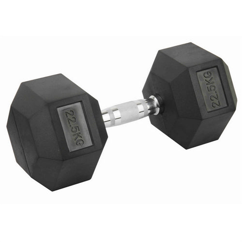 DB-1225-RC_Hce Rubber Hex 22.5Kg Dumbbell