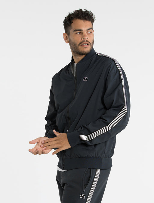 Russell Athletic Mens Iconic Retro Bomber Jacket - Carbon