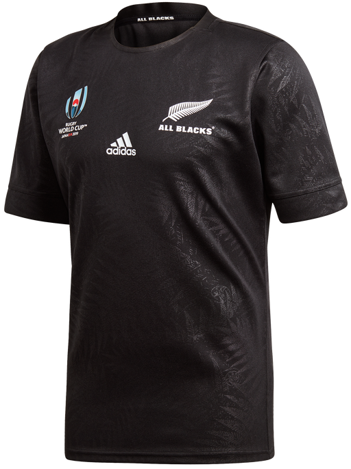 Adidas Mens All Blacks Rwc Home Jersey - Black
