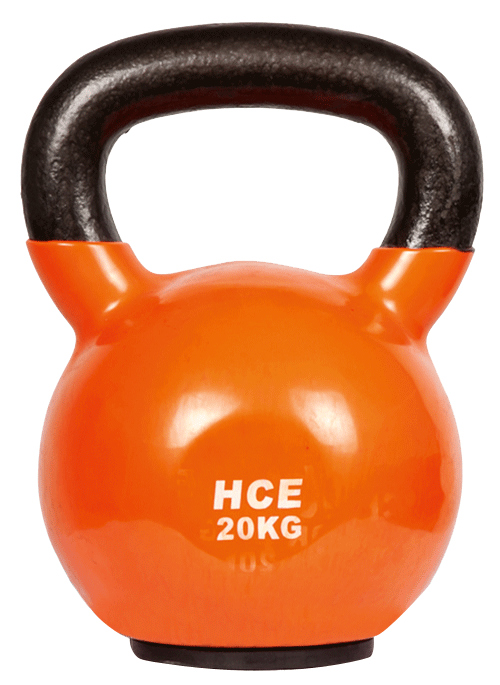 Veo/HCE Vinyl Dipped 20kg Kettle Bell - Orange