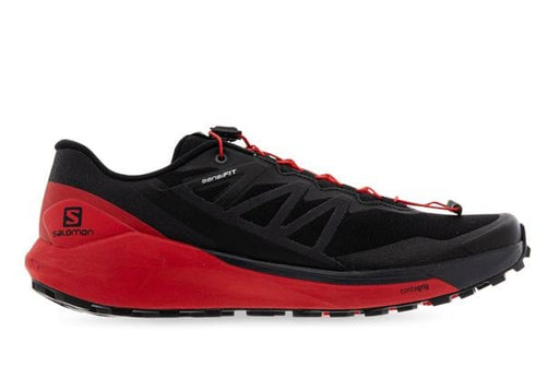 Salomon Sense Ride 4 Mens Trail Shoe - Black/Goji Berry