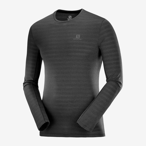 Salomon XA Long-Sleeve Mens Tee - Black/Heather_C12764