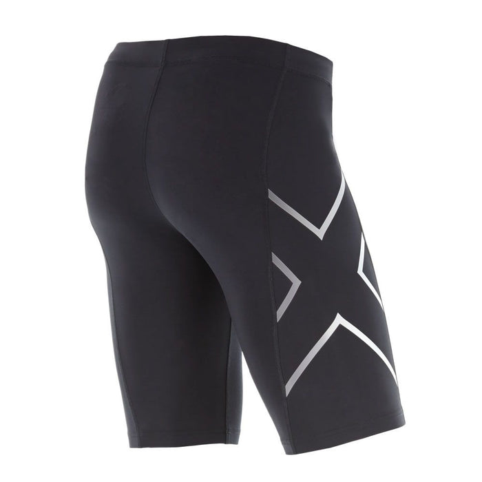 2XU TR2 Mens Compression Short - Black/Silver_MA3851B BLK SIL