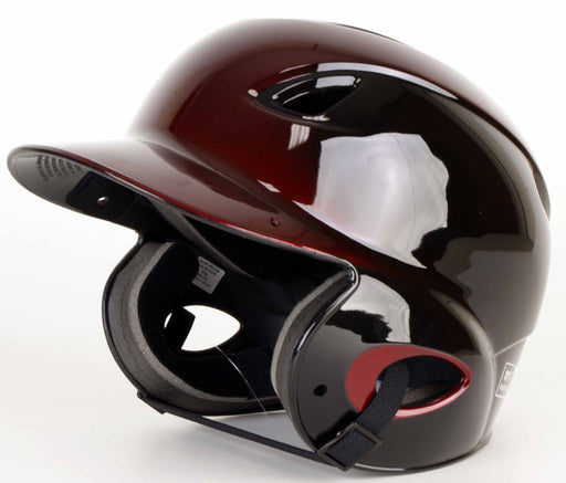 MVP Adjustable Dial-Fit Baseball Batting Helmet - Black/Maroon_AD00361