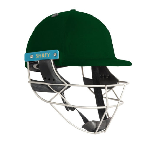 Shrey Master Class Air 2.0 Helmet With Stainless Steel Visor - Green (Small)