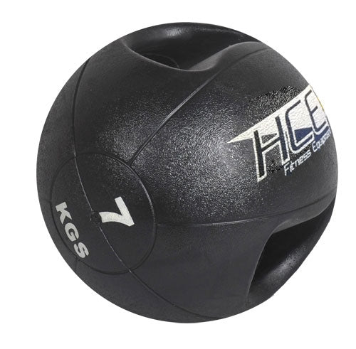 HCE Double Grip 7Kg Medicine Ball Black