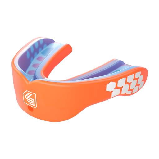 Shock Doctor Max Power Adult Mouthguard - Neon Orange