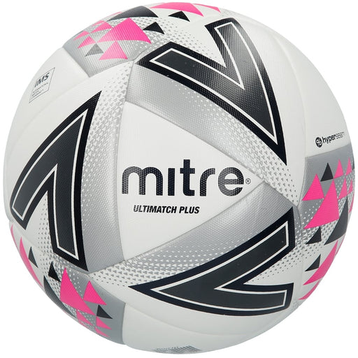 Mitre Ultimatch Plus L20P Soccer Ball - White/Silver/Pink_BB1116WSP