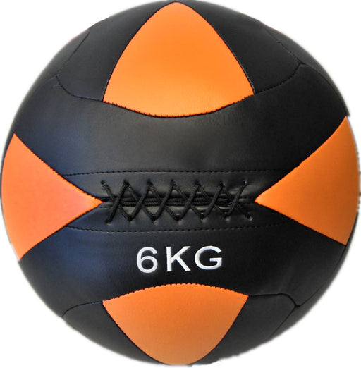 HCE 6Kg Leather Wall Ball - Black/Purple