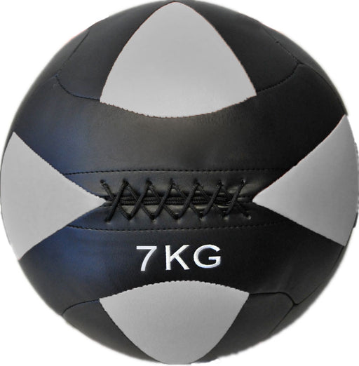 HCE 7Kg Leather Wall Ball - Black/Green_MN-3007-HC