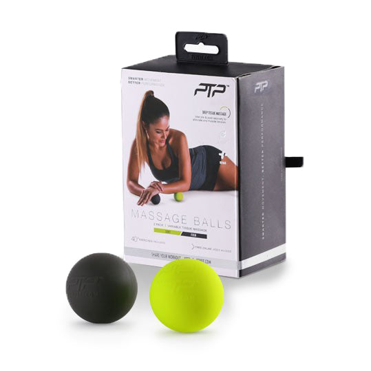 PTP Massage Ball Set - Black/Lime