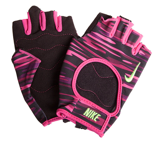 Nike Womens Fit Small Training Gloves - Pink/Black/Volt