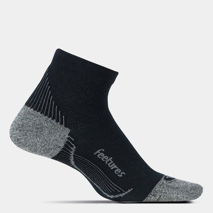 Feetures Planter Fasciitis Sock Ultra Light Quarter - Black (Small)_PF25159-SMALL
