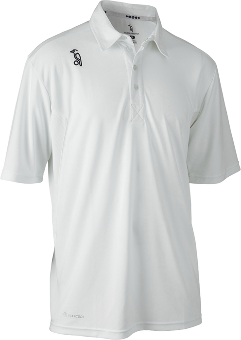 Kookaburra Pro Player Short Sleeve Cricket Shirt - White