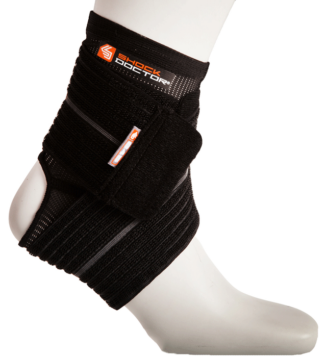 Shock Doctor XLarge Ankle Sleeve with Compression Wrap-Black_PT845-01-35