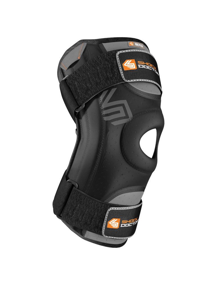 Shock Doctor Large Knee Stabiliser with Flexible Support Stays-Black