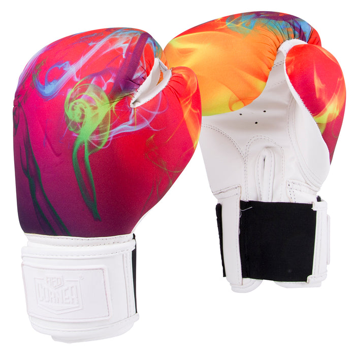 Red Corner Womens Silver Label Boxing Glove-Smoke 2.0_RCBSL0208-711