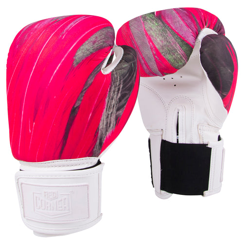 Red Corner Womens Silver Label Boxing Glove-Feathers 2.0