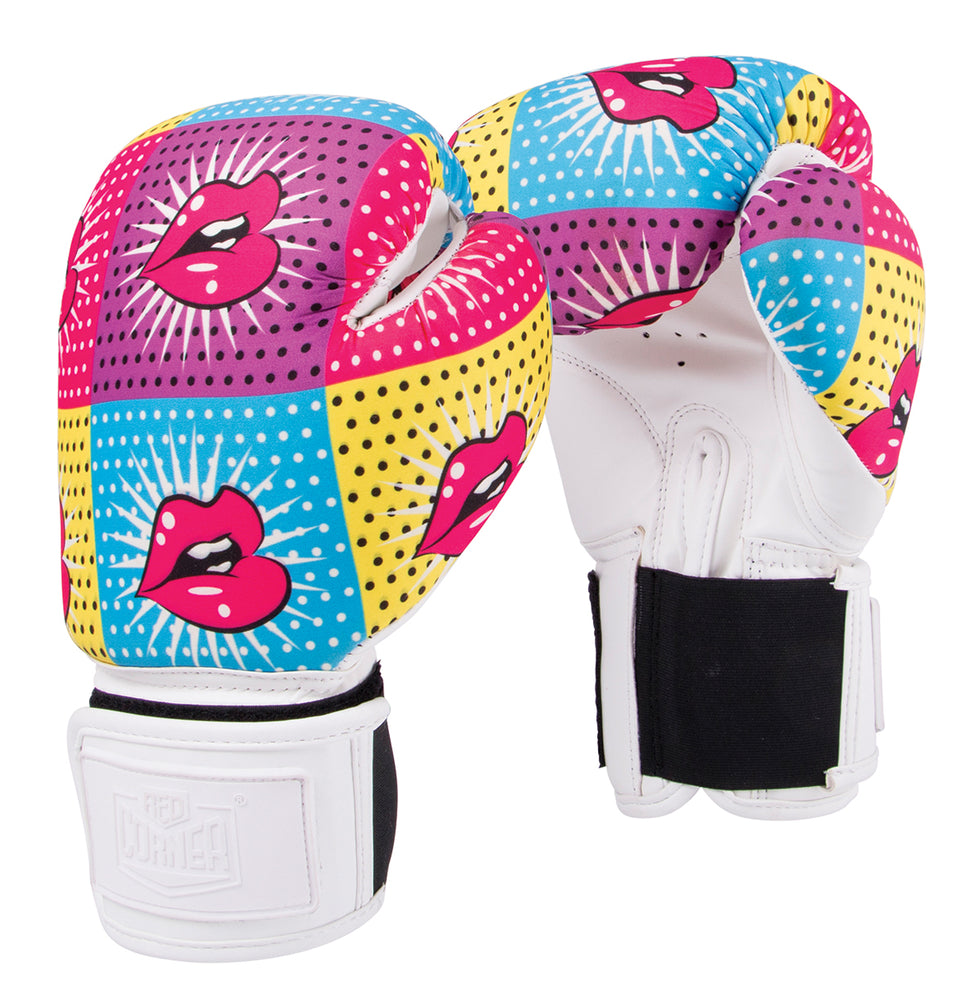 Red Corner Womens Silver Label Boxing Glove-Lips 1.0