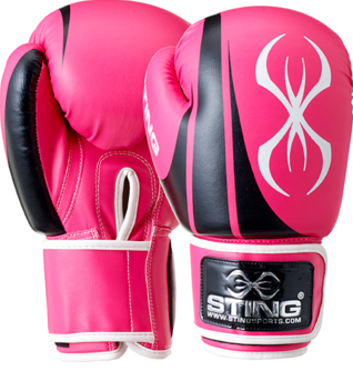 Sting Armalite Boxing Glove Black/Pink 10oz