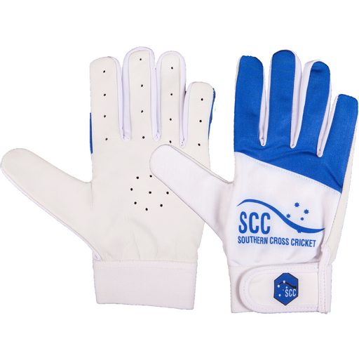 SCC Tyrant Slim Fit Indoor Cricket Glove - Blue/White SCC100TYRSF