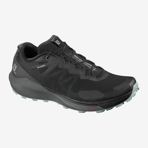 Salomon Sense Ride 3 Mens Trail Running Shoes -Black/Ebony/Lead_409563