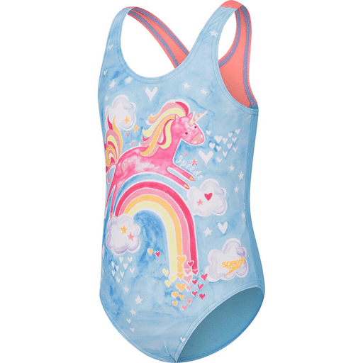 Speedo Toddler Girls Head In The Clouds One Piece Swimsuit - Multi