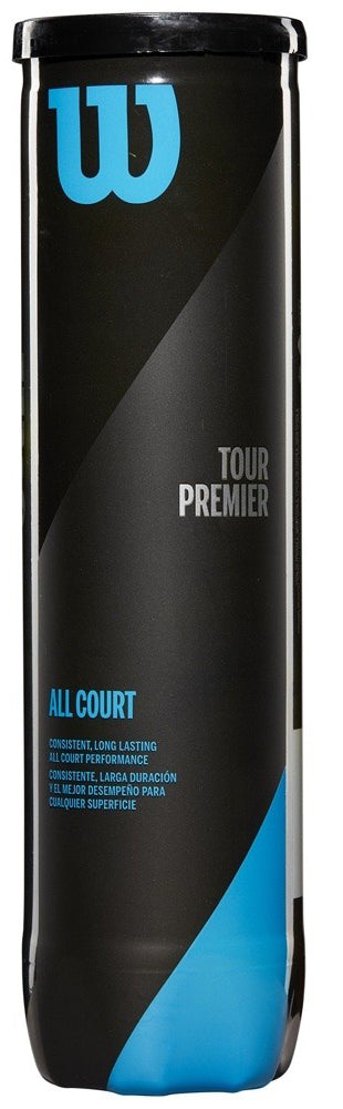 Wilson Tour Premier All Court 4 Ball Can Tennis Ball