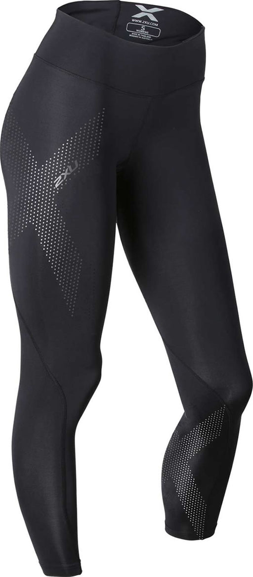 2XU Womens Mid Rise Compression Tights - Black/Black Dot Logo_WA2864B