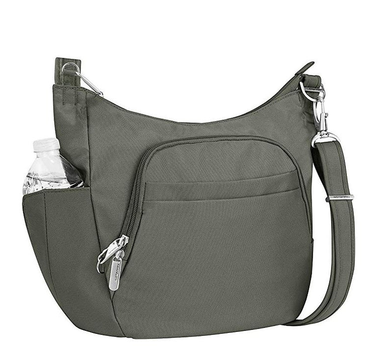 Anti-Theft Classic Crossbody Bucket Bag (Pewter)