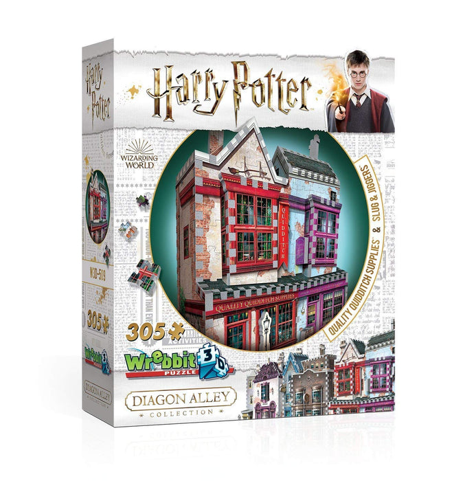 Harry Potter Diagon Alley Collection: Quality Quidditch Supplies & Slug Jiggers/Ollivander's Wand Shop & scribbulus/