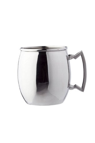 16 Oz. Stainless Steel Moscow Mule Mug W/SS Handle