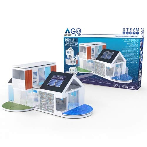 Arckit GO Plus 2.0 - Kids Architectural Model Building Kit (160+ Piece)
